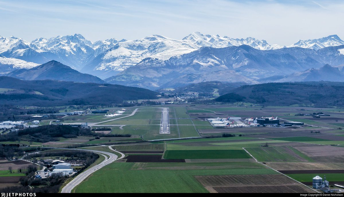 """JetPhotos on Twitter: """"Tarbes–Lourdes–Pyrénées Airport, home to  @TarmacAerosave and a storage location for numerous aircraft.  https://t.co/T1PAmnskyv © Daniel Nicholson… https://t.co/FeLQhUvIA2"""""""