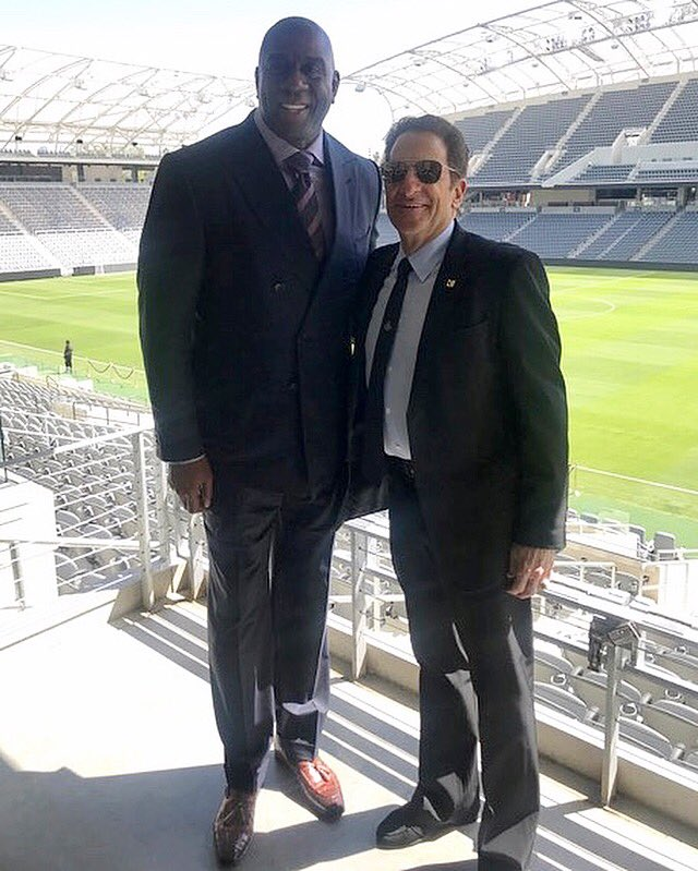 Thank you to my good friend and partner Peter Guber for an exciting day at the @BancStadium grand opening. Peter and I have done 7 partnerships including @LAFC, @Dodgers, and our eSports team @TeamLiquid, who recently won the North American League of Legends Championship!