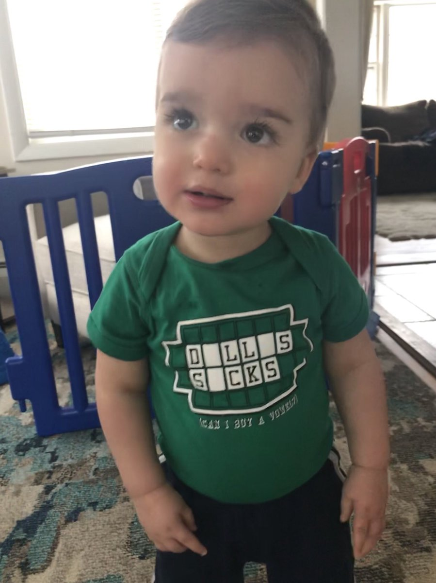 My kid spilled food on his outfit at lunch.   This was his backup shirt. Thanks to @AshleyBraband and @PhillyPhaithful   He's one. He wore this at school.