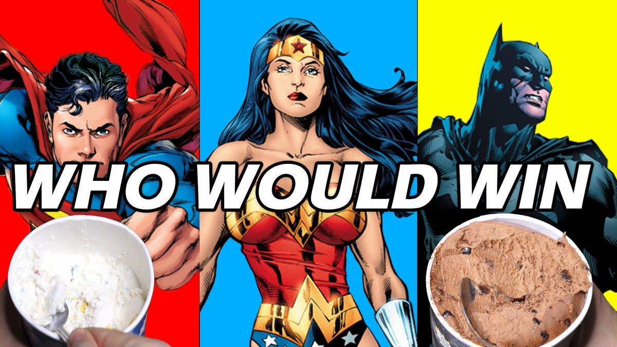 new vid: Who would win: Superman, Batman, Wonder Woman? https://t.co/jhhGF6CGAB @DCComics #ad
