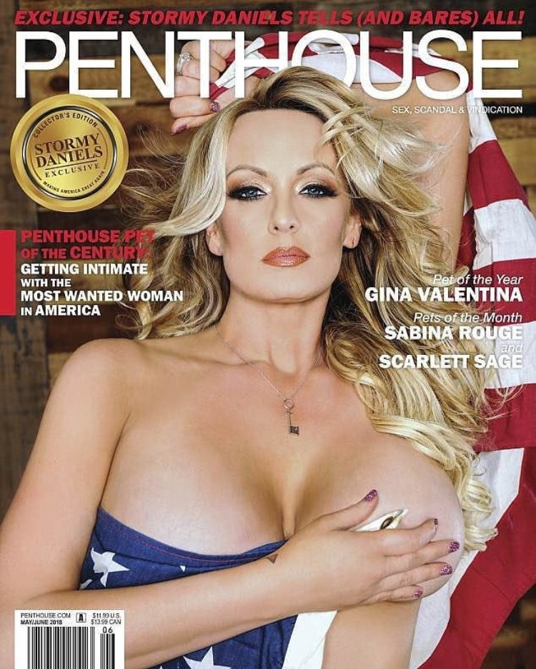 "COVER OF FORTHCOMING @PENTHOUSE: ""@StormyDaniels Tells (And Bares) All!"" https://t.co/ltROGWqXVw"