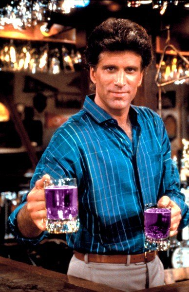 Ever wonder why the cast of Cheers were always drinking a mysterious purple liquid called 'Sitcom Jizz'? Apparently it's because he FCC wouldn't let you show characters drinking beer
