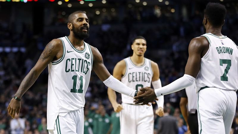 Kyrie Irving wasn't at TD Garden for the Celtics' Game 2 win, but he was instrumental in their victory.  https://t.co/XRLtz913SI