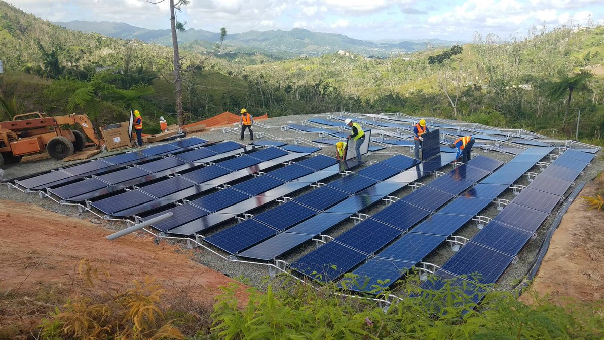 We currently have over 1,000 Tesla batteries on the ground in Puerto Rico delivering power at 662 locations. We're working around the clock to quickly build more projects to support the island