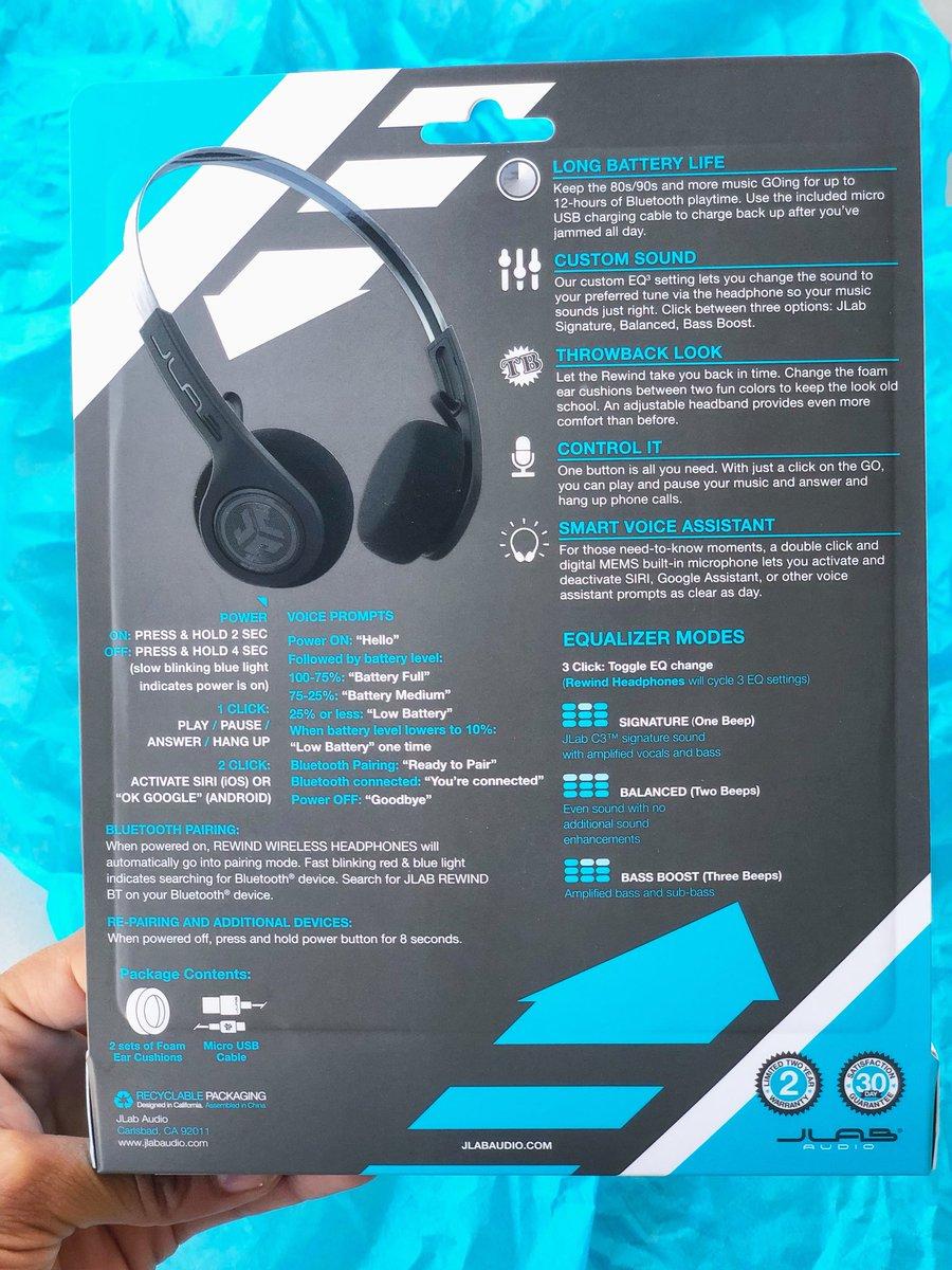 c22cf2b0902 From when the original Walkman originated by Sony, @JLabAudio brought back  the REWIND wireless retro headphones. Love it! #jlabaudio #bluetooth  #findyourgo ...