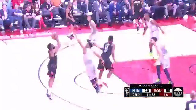 James Harden knocks down the trey to begin 2nd half action!  #Rockets & #AllEyesNorth are back on @NBAonTNT https://t.co/PkHt8CRLS9
