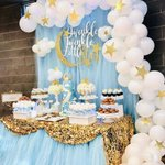 """61 Likes, 2 Comments - Cris Vieira @crisvieira1 (@diariodefesta) on Instagram: """"Brilha, brilha, estrelinha! #Repost @bizziebeecreations ・・・ Twinkle Little Star Babyshower Dessert…"""" This fantastic party idea was featured today on https://t.co/2n0L40LUCS! #partyideas #party …"""