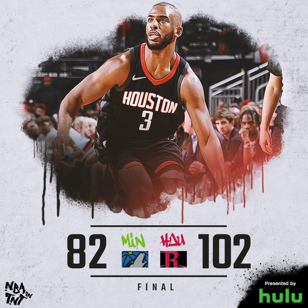 .@CP3 (27 PTS, 8 AST) & the @HoustonRockets roll past the @Timberwolves to grab a 2-0 series lead!   #NBAPlayoffs https://t.co/2pUNU1ouhL