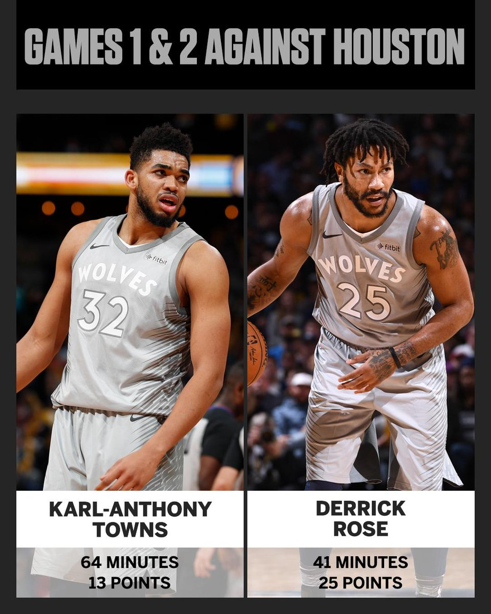 Derrick Rose has outscored Karl-Anthony Towns from off the bench vs. Houston.