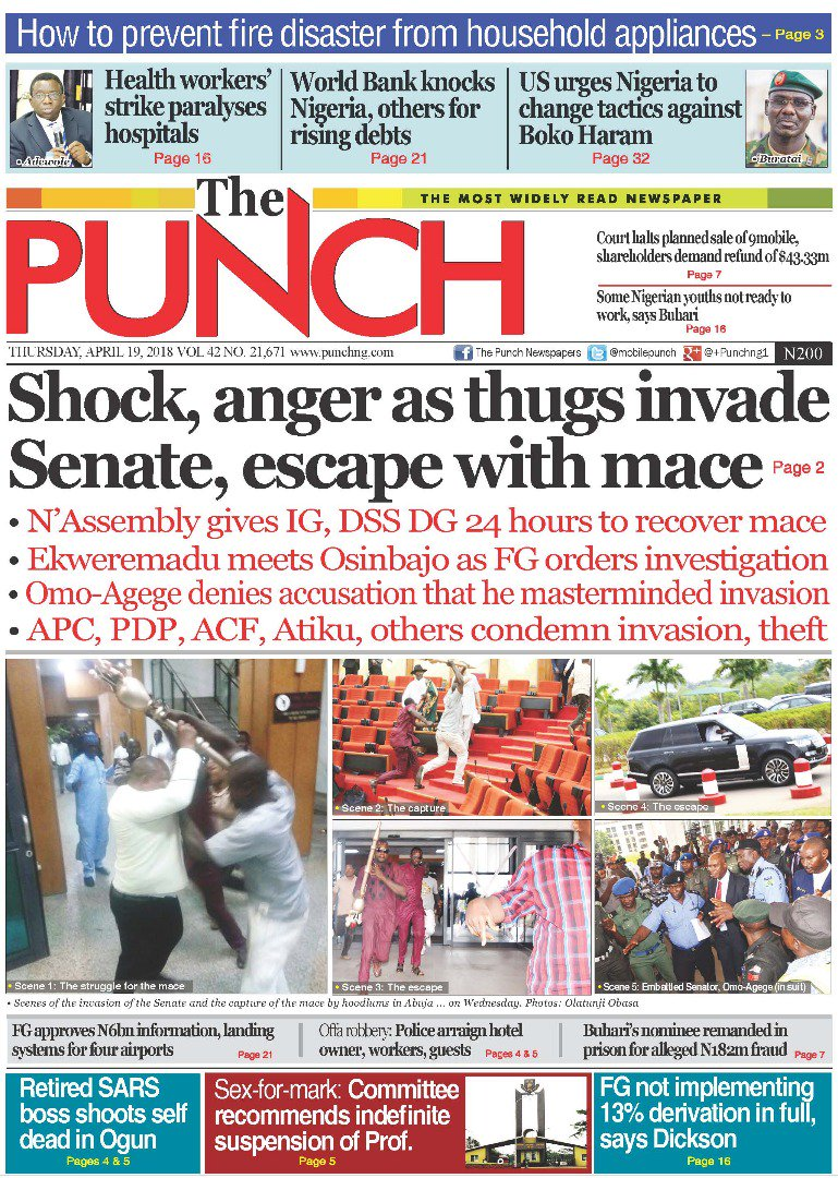 Punch newspapers nigeria