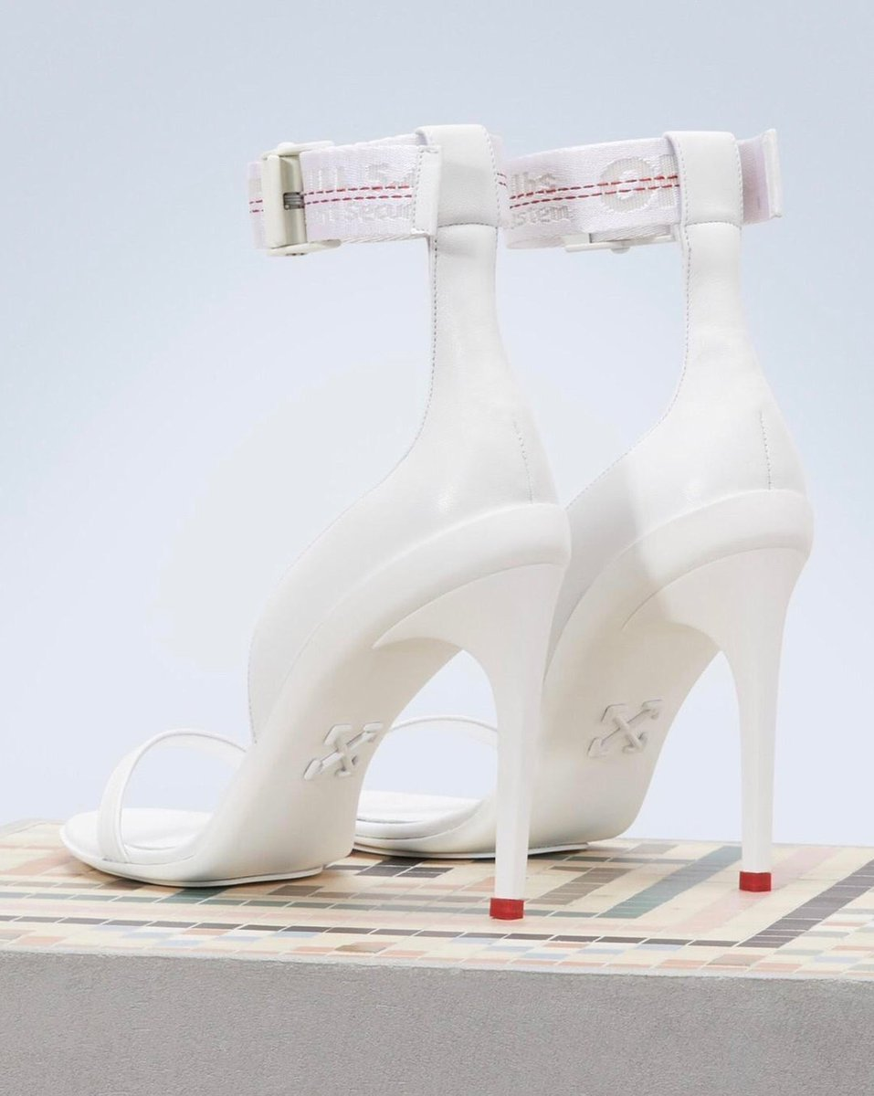 Off White Industrial Strap Sandal Heels????