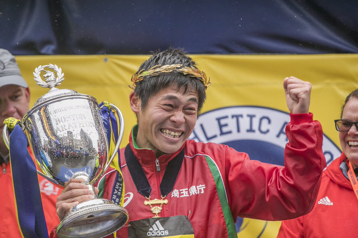 Congrats Yuki...You were Positively Powerful !!                       #BostonMarathon Champion #TogetherForward<br>http://pic.twitter.com/2CoFseUp9R