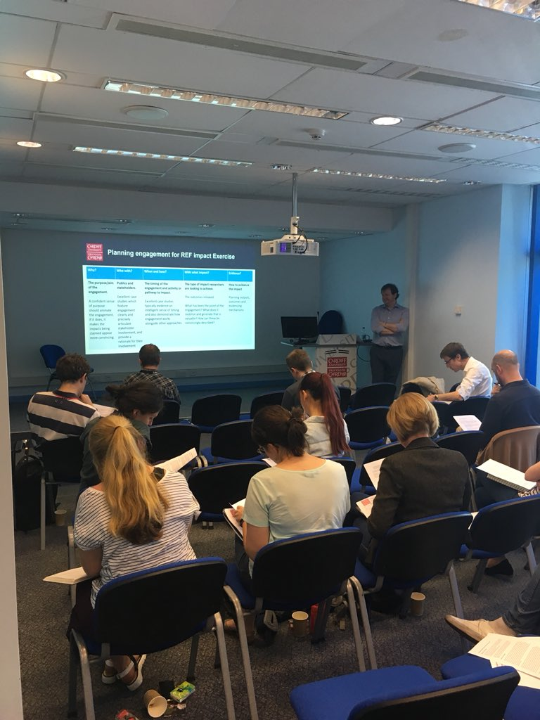Training ECRs as part of the cancer research leaders programme on engaging with impact! #REF2021 <br>http://pic.twitter.com/rGvTnu7NdF