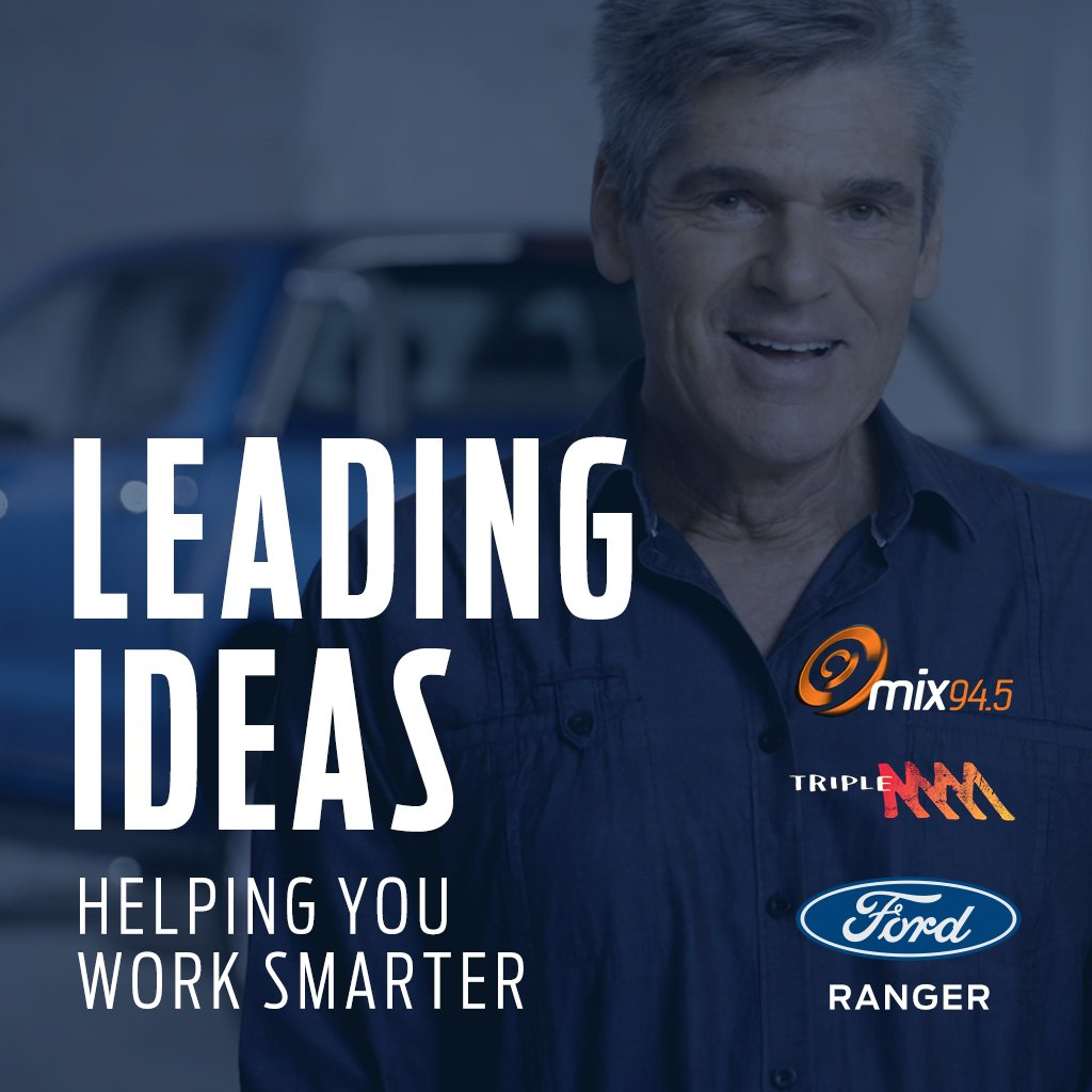 Check out the first four episodes of Leading Ideas on the mix94.5 App or  here: http://goo.gl/oFCBcL #FordRanger  #LeadingIdeaspic.twitter.com/0xRW7qcubu