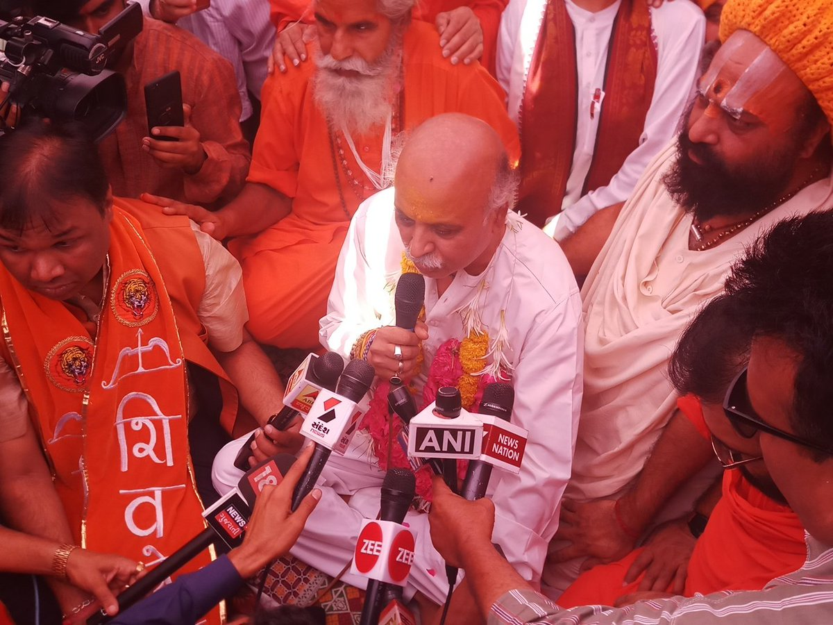 Pravin Togadia ends his 'fast unto death' programme on third day at around noon