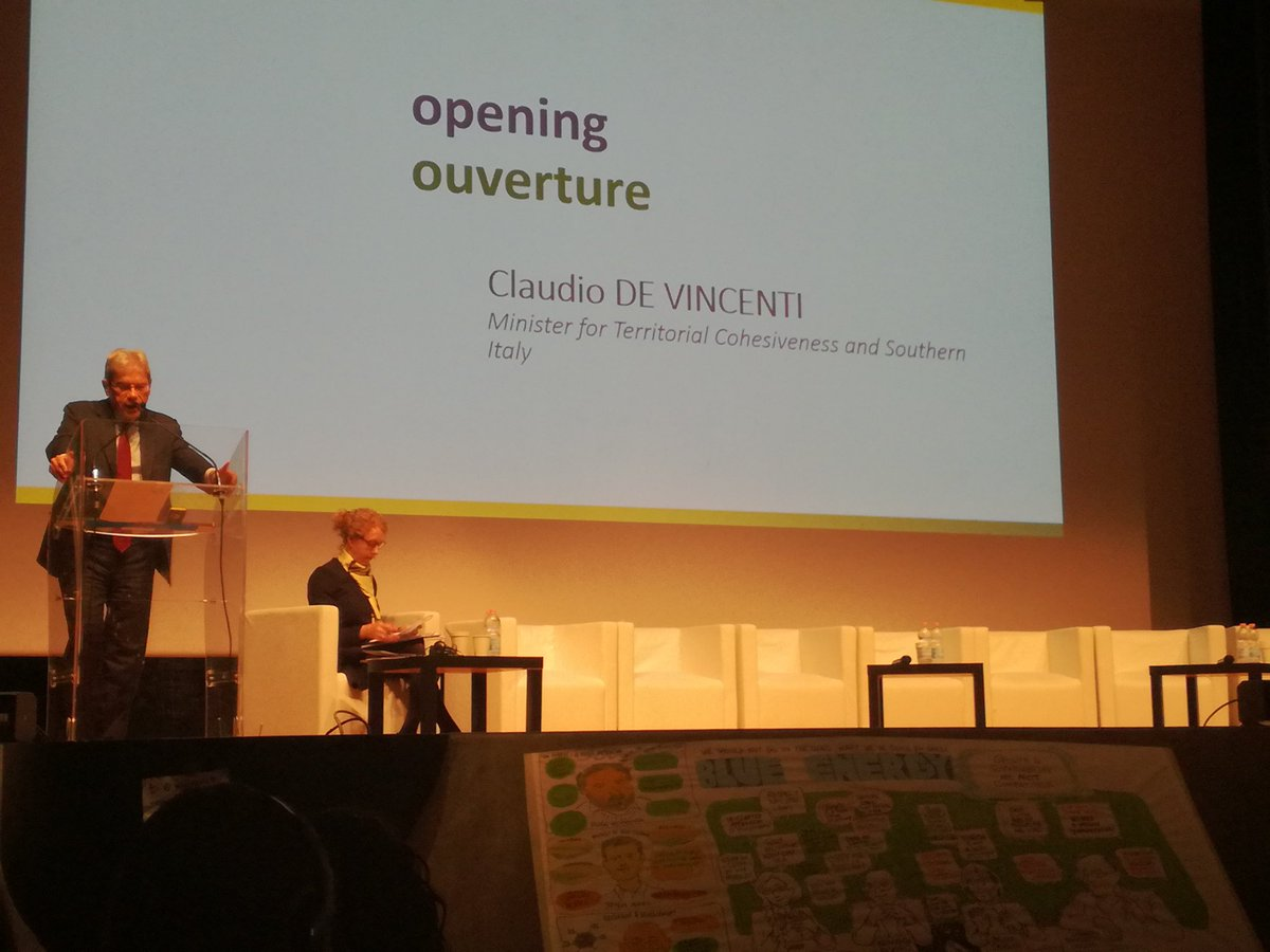 Day2 #MadeInMed in #Roma starts with openings from the Italian Minister for territorial cooperation De Vincenti and the @MEDProgramme MA @regionpaca .  #sustainabily, #innovation #socialinclusion #inclusivegrowth the issues on the table. <br>http://pic.twitter.com/9Xa5gN6wtt