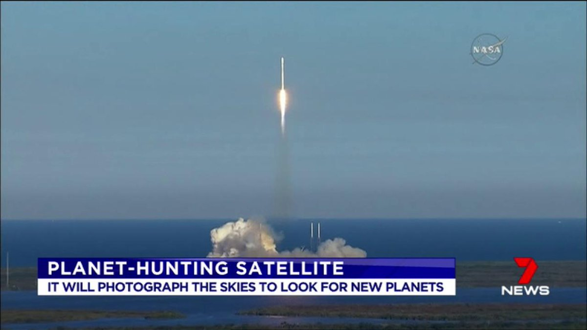 A rocket has been launched into space to look for new planets, that could support alien life. https://t.co/xz9WiwqNed #7News