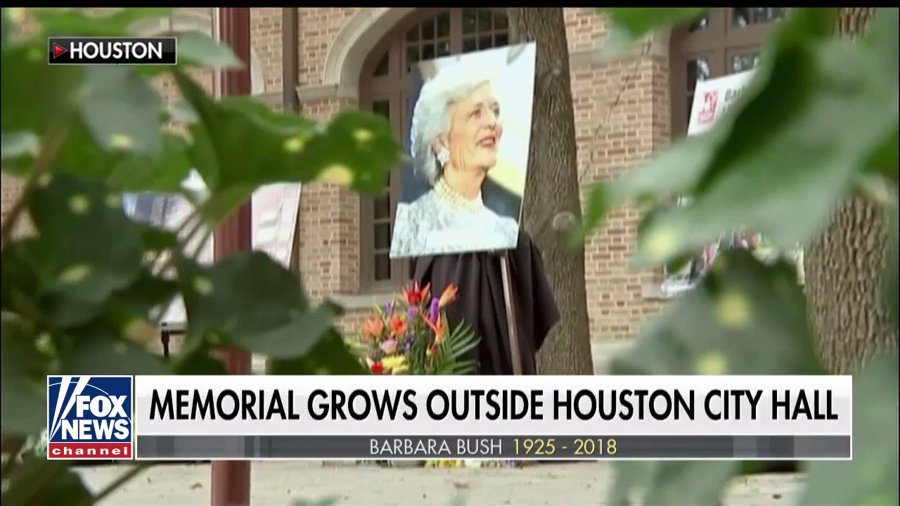 Memorials held across the country to honor former First Lady #BarbaraBush https://t.co/ZKxDlpzDVC https://t.co/riYGpT9XZt
