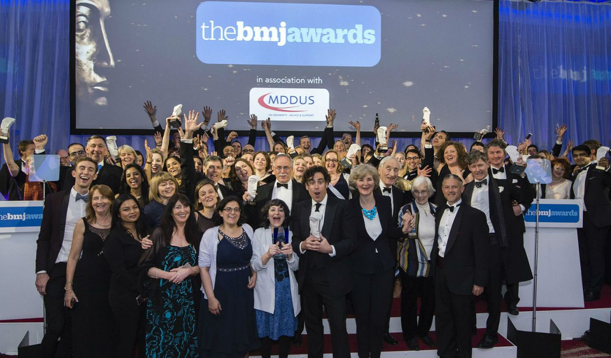 The finalists for #TheBMJAwards have been announced, and we're counting down the days until the winners are crowned. Looking forward to celebrating the best in uk healthcare on 10 May. View the shortlist here: https://t.co/eJeRs7nFpm @MDDUS_News