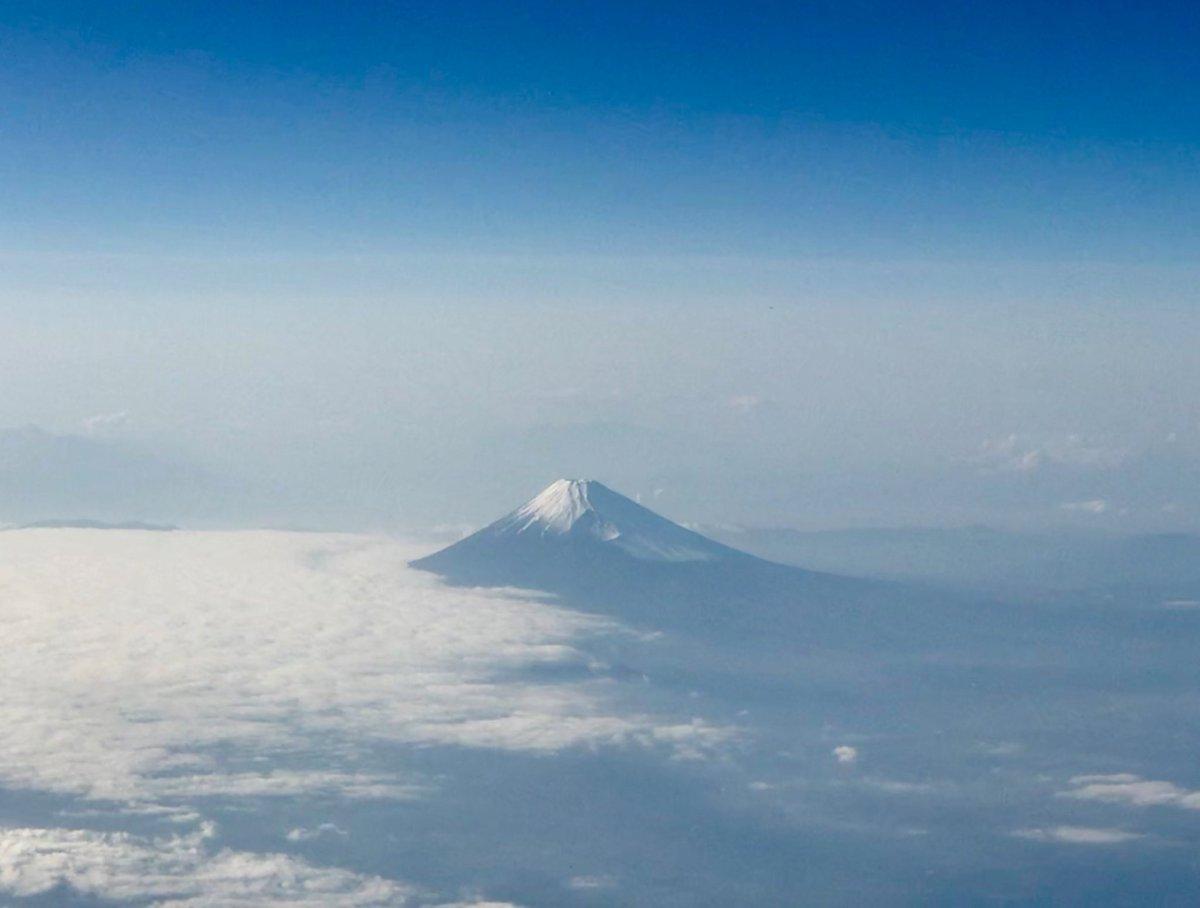 今日の富士山 飛行機から撮影