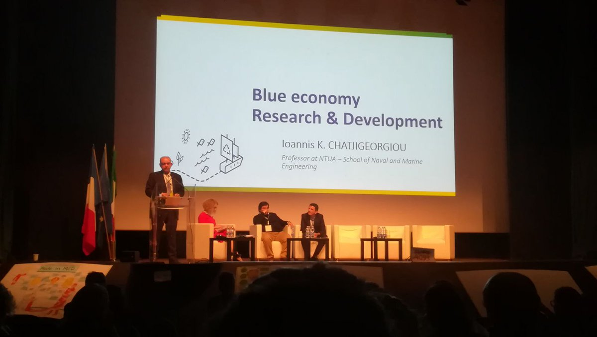 &quot;#BlueGrowth has a huge potential, specially for the South #Mediterranean countries, but we have to develop big projects #together&quot; #MADEinMED Let&#39;s #Collaborate and walk together towards a sustainable #BlueEconomy <br>http://pic.twitter.com/cuKnD7VcPl