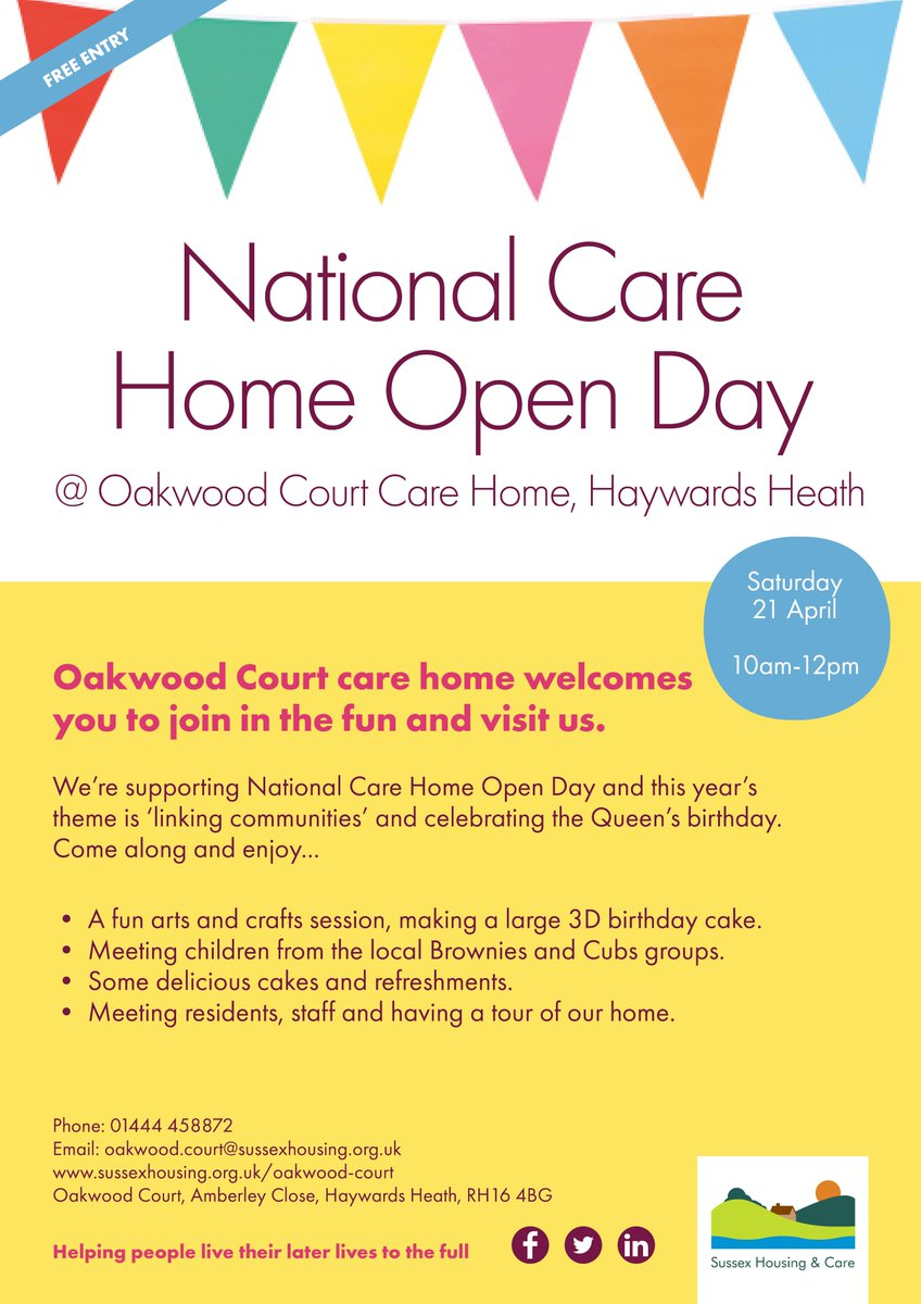 Sussex Housing Care On Twitter Why Not Come Along To Oakwoodcourt