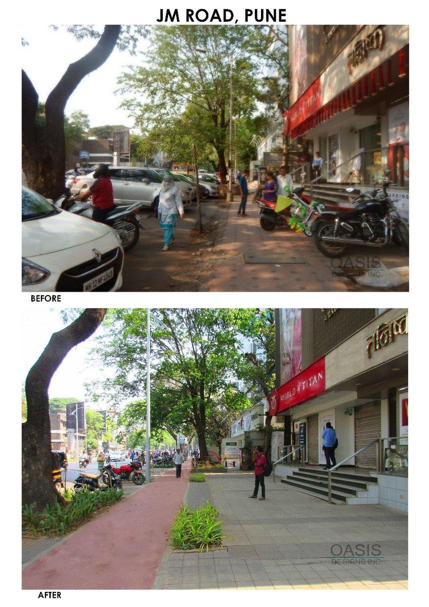 Pmc Care On Twitter The Transformation Of Jm Road Shivajinagar
