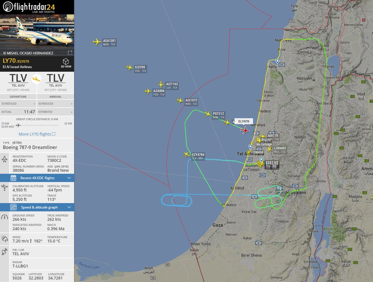 Israel celebrates 70 years of independance.  Follow flight #LY70 over Israel https://t.co/jZUf9804yn