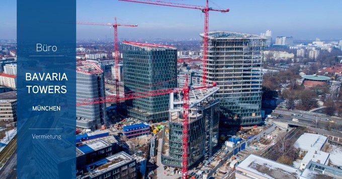 """Erster Mieter in den Bavaria Towers<br><br>Vier Etagen mit insgesamt 6.000 qm hat @eGym_de im """"BlueTower"""" angemietet. Das Fitness-Unternehmen wird seine Zentrale nach Fertigstellung Ende 2018 beziehen.<br><br>Alle Infos zu den Bavaria Towers gibt&rsquo;s hier:  #Muenchen t.co/GEo5l9rv9K"""
