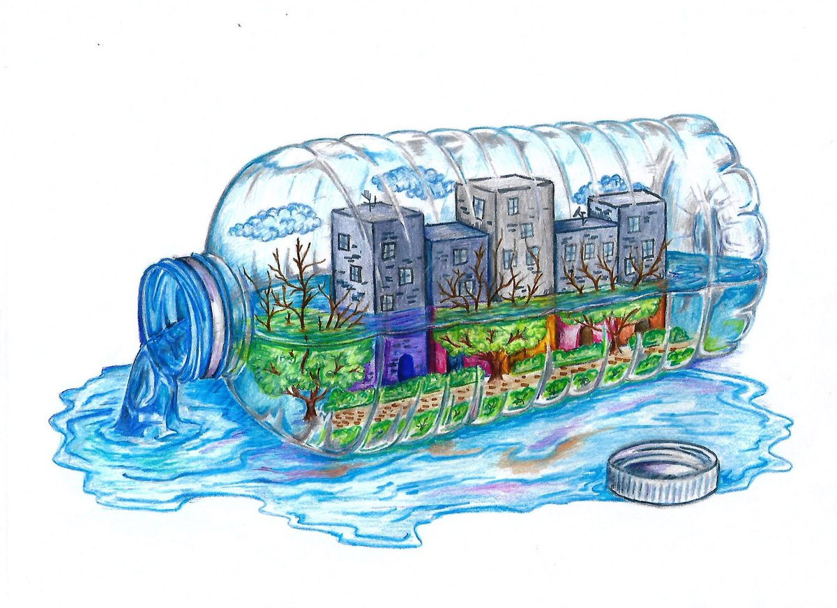 Based on the drawing well create a mural to remind that saving water means saving lifepic twitter com snsa3qpm2v