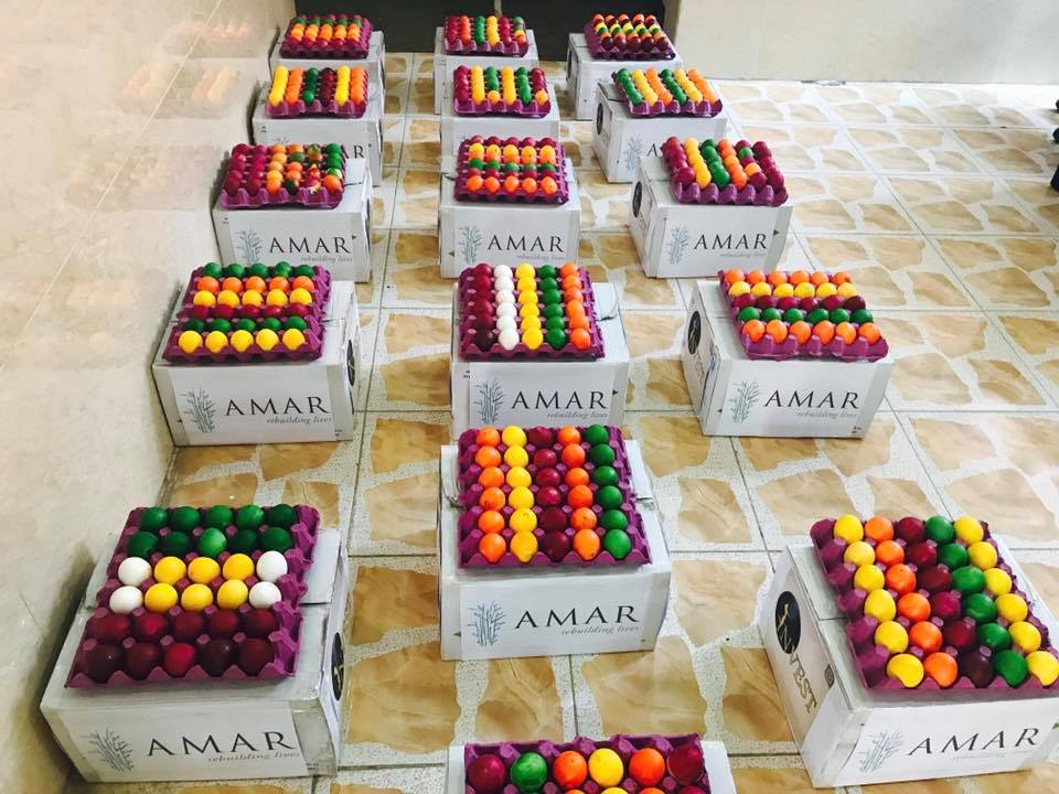test Twitter Media - It's #Yazidi New Year, so time, of course, to add a splash of colour to the humble egg! These little beauties are gifts from AMAR to our #Yazidi friends living in or near the #Sharya #IDP camp in the Northern #Iraq. All the very best from all of us here at AMAR Towers in #London! https://t.co/MW1nNYDHP1