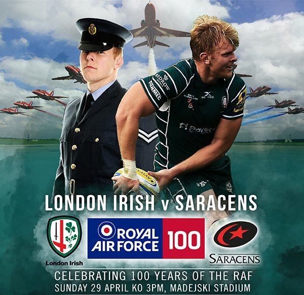 test Twitter Media - Make sure you've got your tickets to the @LondonIrishARFC  v @Saracens match celebrating 100 years of the RAF! Call 0118 968 1016 for great offers on tickets! #STRONGERTOGETHER https://t.co/nmCQQKfwV4