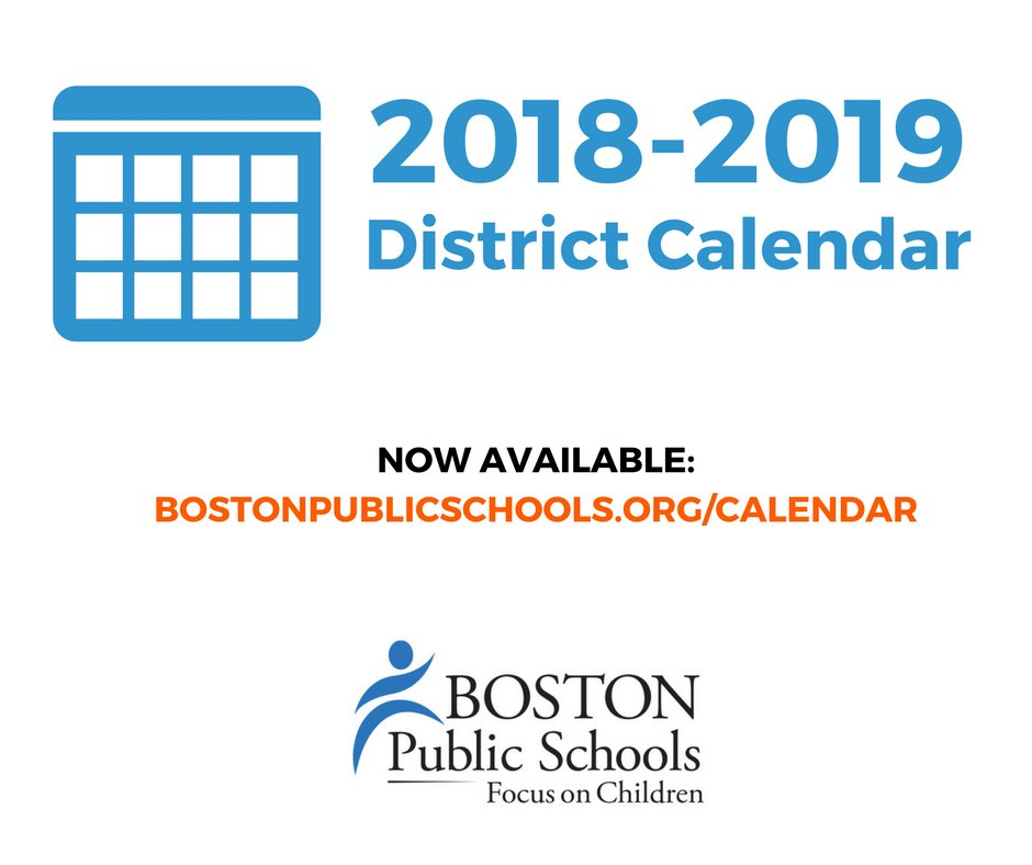 Boston Public School Calendar 2019 BostonPublicSchools on Twitter: