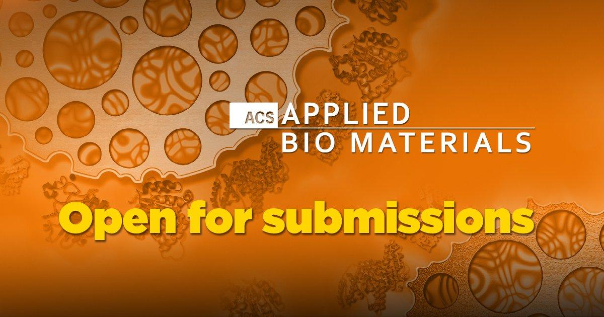 Our submission site is open! We look forward to receiving manuscripts which integrate #materials, #engineering, #physics, #bioscience, and #chemistry into important applications of #biomaterials  http:// acspubs.co/AwGz30jzgcP  &nbsp;   @ACSPublications @ACS_AMI @ACS4Authors<br>http://pic.twitter.com/seNhUkEsUp