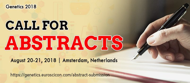 #BestPosteraward #genetics_2018  Amsterdam, Netherlands Student #PosterCompetition is organized to encourage students and recent graduates to present their original research which will be published in the related #Journals.  Submit your paper visit :  https:// genetics.euroscicon.com/abstract-submi ssion &nbsp; … <br>http://pic.twitter.com/lWusmVXi41