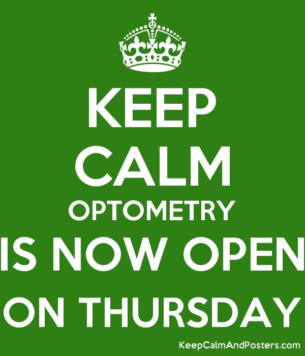 We&#39;ve extended our hours! Optometry is now open on Thursdays 10 AM - 5 PM for eye examinations with Dr. Ivy!  Book your appointment today!!! #specsandspines #optometry #optometrist #mimico #mimicobythelake #etobicoke #toronto #eyeexams #extendedhours #servingyoubetter #keepcalm<br>http://pic.twitter.com/Wc4kj8QkBh