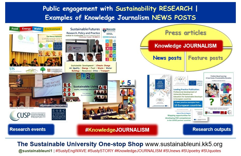 Taking #Sustainability #RESEARCH to public | #KnowledgeJOURNALISM #press articles &amp; news/ feature #blogs  https://www. linkedin.com/pulse/taking-s ustainability-research-public-knowledge-press-jayawardena &nbsp; …   #PublicEngagement #ResearchImpact #scicomms #science #REF2021 #Impact #Reseachers #academia #universities #engagement #SDGs<br>http://pic.twitter.com/PGeBB8Jf3m