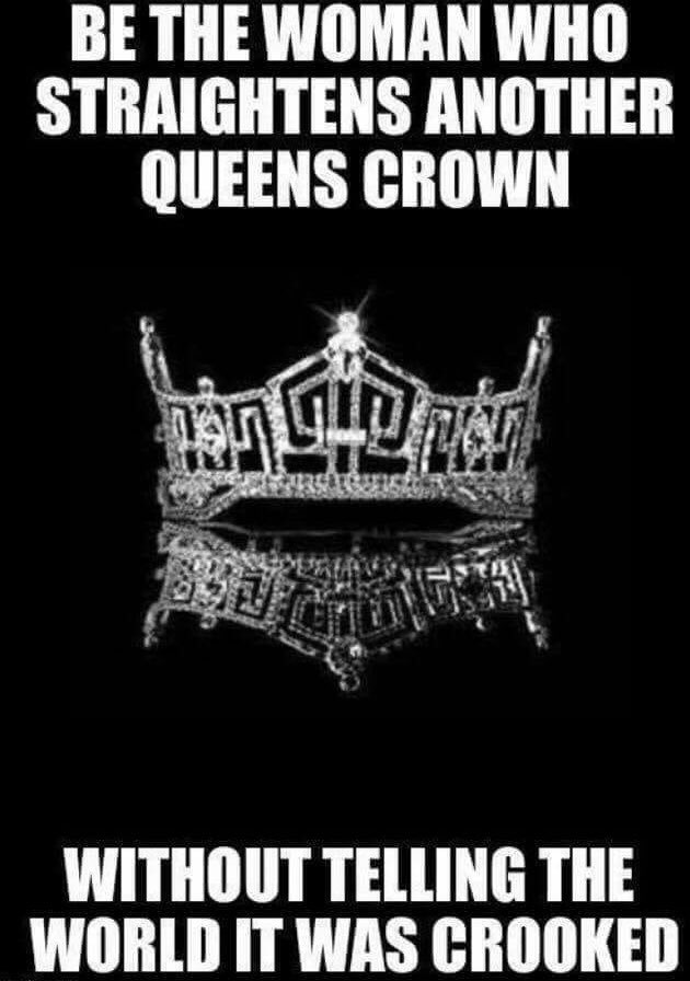 Image result for straighten a womans crown without telling the world its crooked