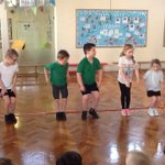 We started our new PE topic Athletics today which involves - running, jumping and throwing.