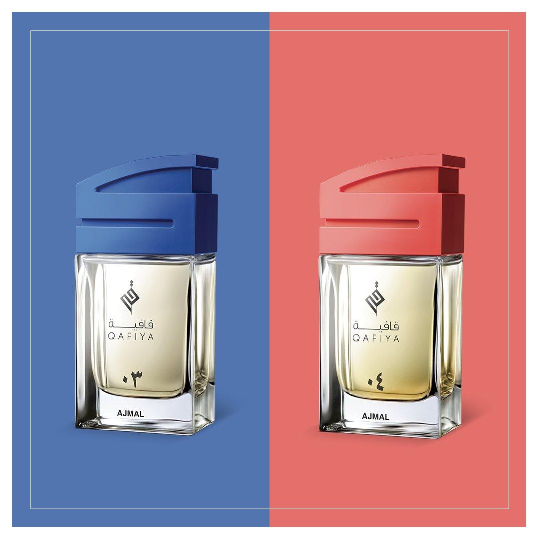 قافية 03 و04: عطرين حديدين ومغامرتين فريدتين. أيهما تفضلون أكثر؟   Qafiya 03 & 04: two new fragrances, two exciting adventures! Which one do you prefer?   #Qafiyaarabia #discoveringqafiya #QafiyaInKuwait https://t.co/mJaRJcg8qt