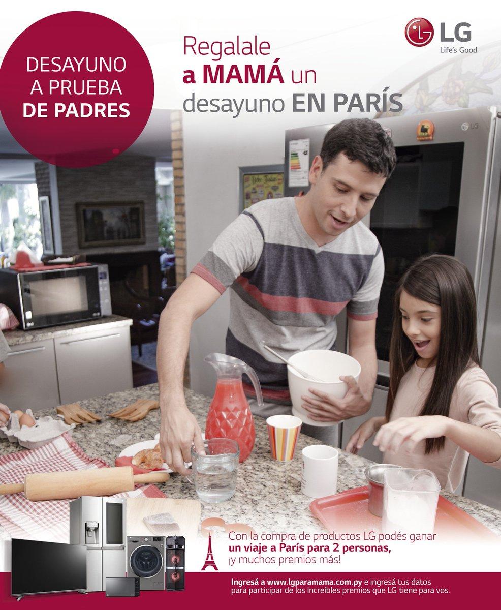 Con LG, ¡mamá desayuna en París! 🇫🇷❤️  Tus compras en productos seleccionados te dan la oportunidad de llevarla a la ciudad del Amor y vivir una experiencia sin igual.  Ingresá ya a https://t.co/oG8BB4LvKO y enterate más de esta promo ☕👩 https://t.co/EFtbZi9V0e