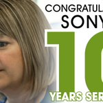 Congratulations to Sonya Phillips from the Underwriting Support Team who this week celebrates 10 years with Thistle!