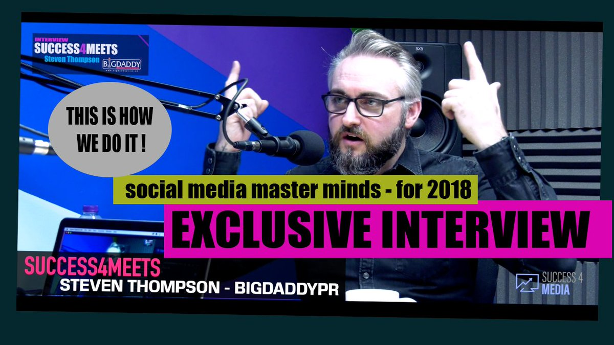 Coming later today our brand new exclusive interview with @MrSteThompson from @BIGDaddyPRUK talking all things Social Media, Digital Marketing and Coaching in 2018 #interview #digitalmarkiting #bigdaddypr #success4<br>http://pic.twitter.com/NJPlQXxoAU
