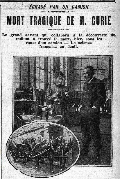 #OnThisDay in 1906 Pierre Curie died in a tragic accident. After his death Pierres wife and research partner Marie Curie was offered a government pension but she refused. Instead she continued the pairs studies and in 1911 became the first person to be awarded two Nobel Prizes.