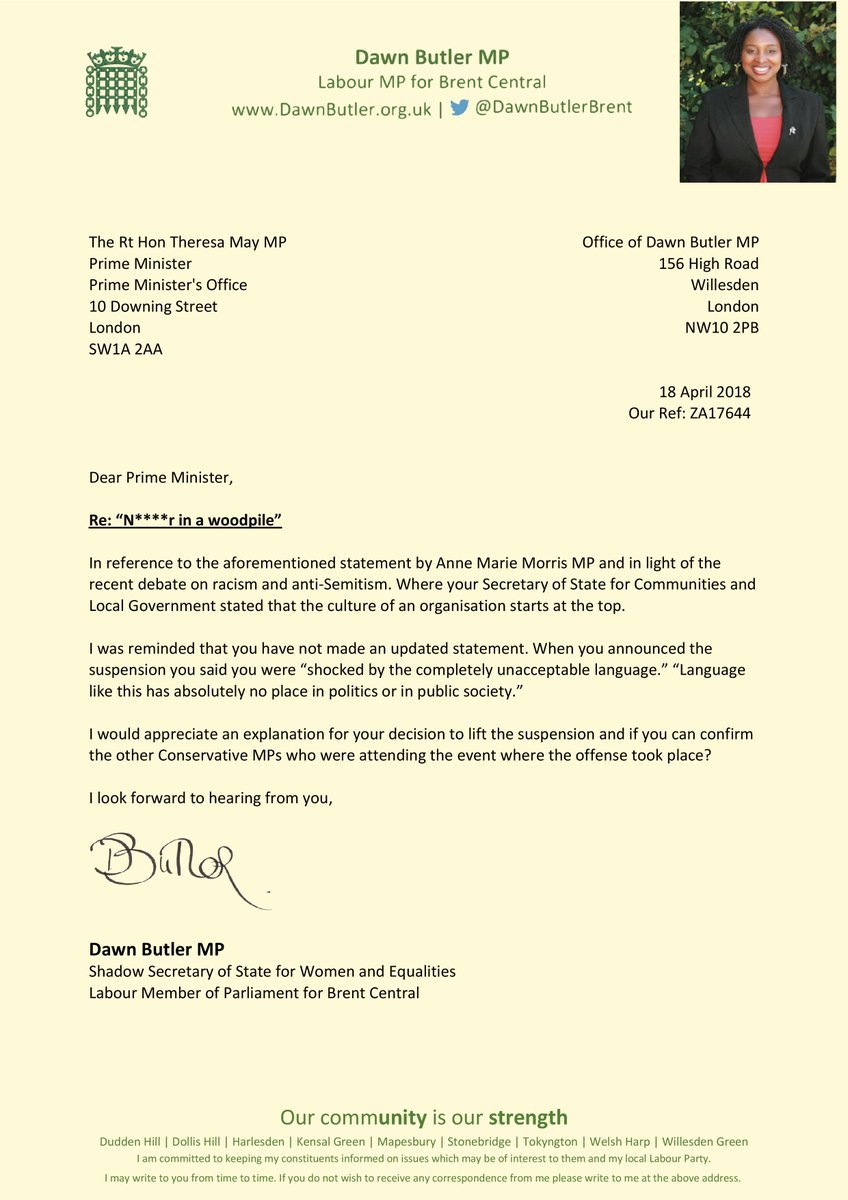Dawn butler mp on twitter this is my second letter to the prime dawn butler mp on twitter this is my second letter to the prime minister you must not hide the reasons why you secretly reinstated the whip after expocarfo Choice Image