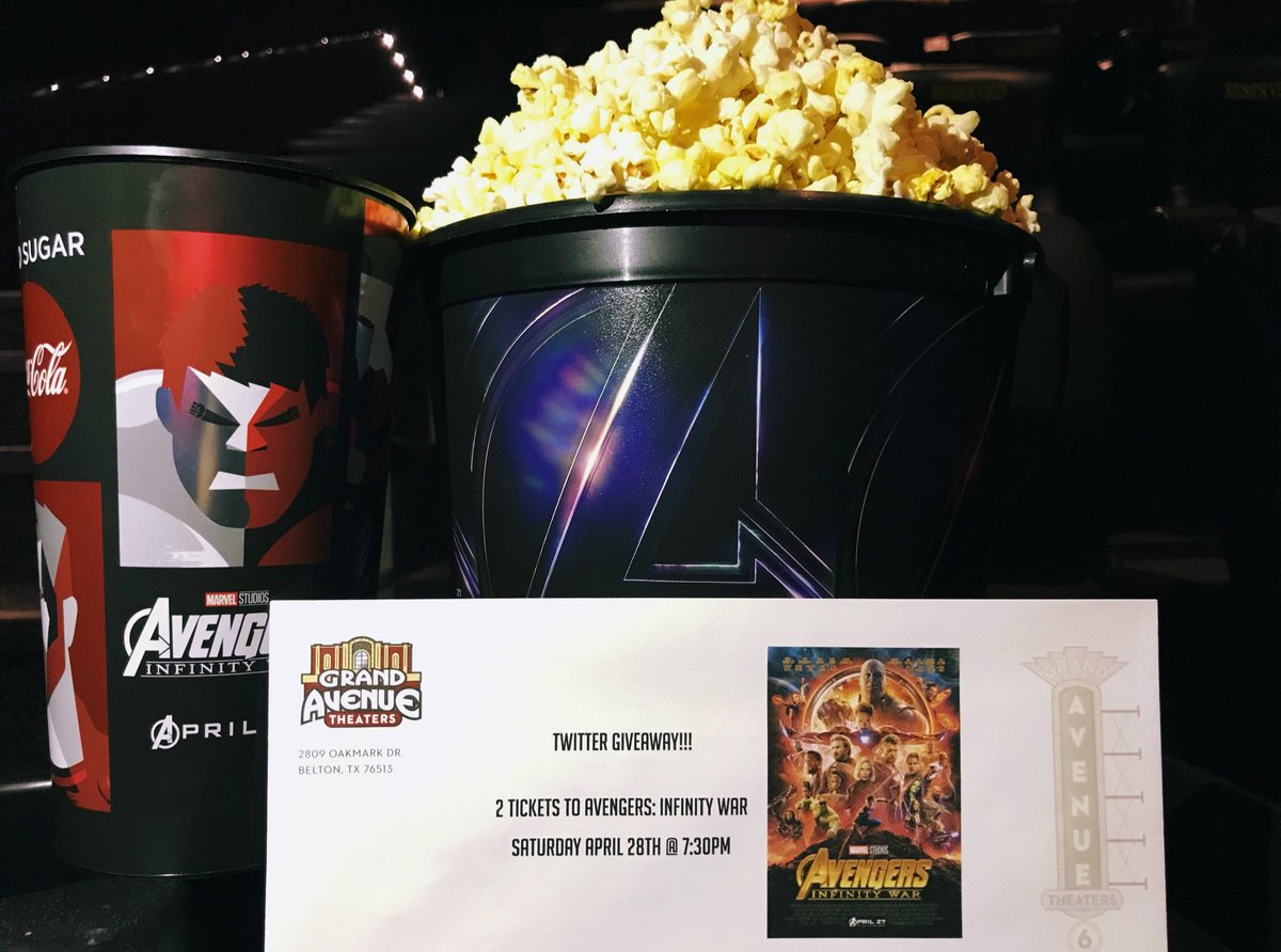 Grand Avenue Theater On Twitter We Have Two Avengers Infinity War