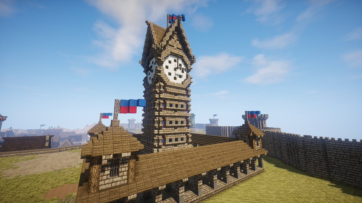 Minecraft Creations On Twitter Epic Medieval Minecraft Clocktower Design By Druss Rua