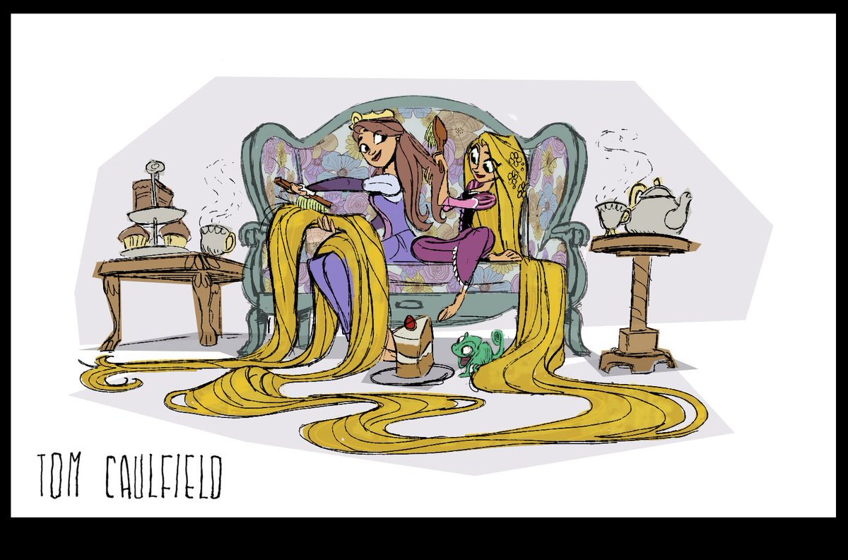 #ThrowbackThursday Heres an exploration of the Queen and Rapunzel before their place in the show were cemented.