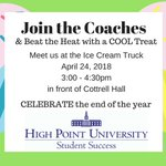 The Last Day of Classes is just 5 days away! In celebration of the end of the semester, join the Success Coaches for a cool treat on April 24th from 3-4:30 in front of Cottrell Hall. #HPU2021 #HPU2020 we'll see you there!