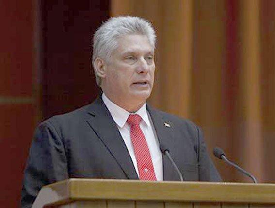 Electo Miguel Díaz - Canel como presidente de Cuba